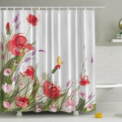 Meadow Flowers Print Shower Curtain