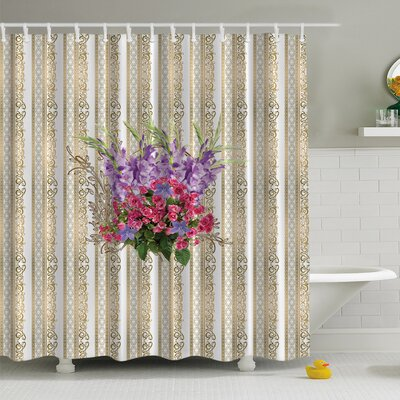 Flower Bouquet Print Shower Curtain