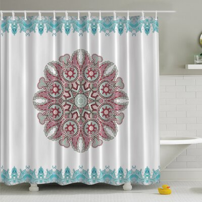 Paisley Mandala Print Shower Curtain