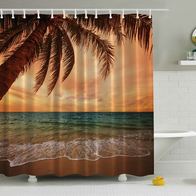 Early Sunset 270 Degrees Print Shower Curtain