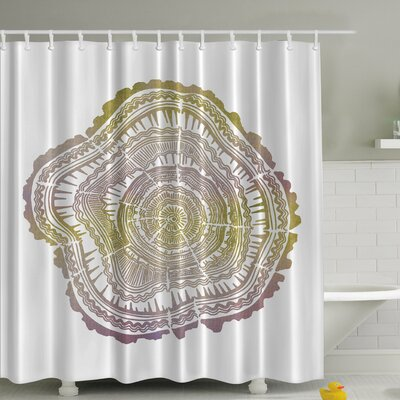 Tree Age Rings Print Shower Curtain