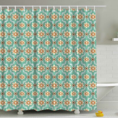 Old Fashioned Flowers Print Shower Curtain
