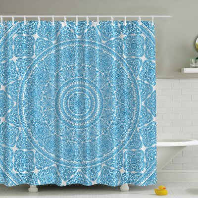 Lace Print Shower Curtain