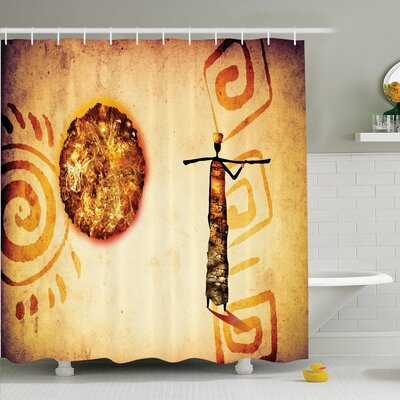 Jodie Tribal Shower Curtain Size: 75 H x 108 W