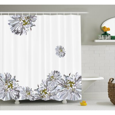 Flourishing Summer Fusion Poppy Chamomile Purity Icons of Habitat Art Shower Curtain Set Size: 70 H x 69 W