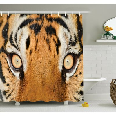 Animal Tiger Eyes Wild Shower Curtain Set Size: 84 H x 69 W