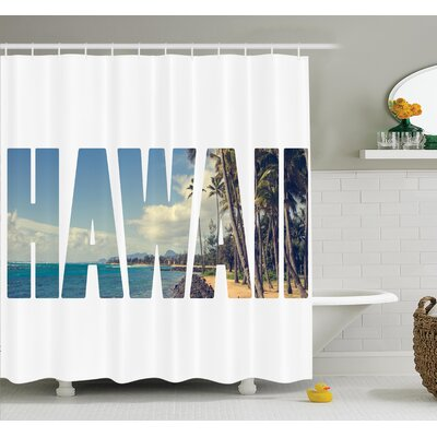 Tropical Hawaii Themed Artsy Shower Curtain Set Size: 84 H x 69 W