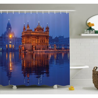 Golden Temple Shower Curtain Set Size: 84 H x 69 W