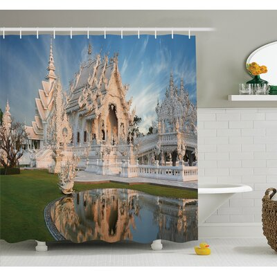 Ornate Palace Shower Curtain Set Size: 75 H x 69 W