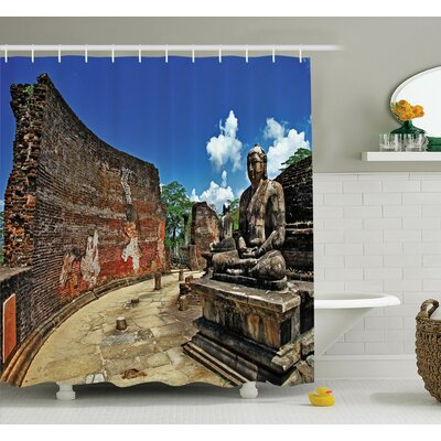 Cliff Temple Shower Curtain Set Size: 70 H x 69 W