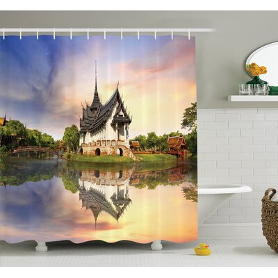 Medieval House Shower Curtain Set Size: 84 H x 69 W