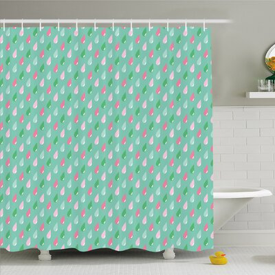 Home Funny Teardrops Rain Shower Children Image Shower Curtain Set Size: 84 H x 69 W
