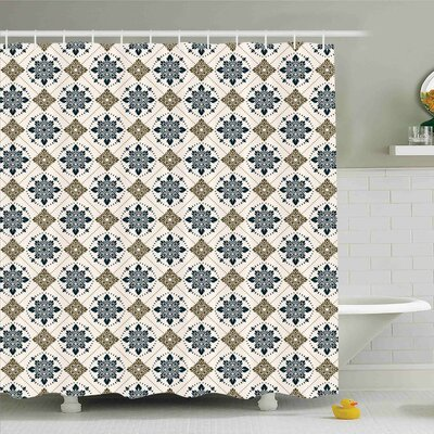Traditional House Retro Boho Welsh Pears with Persian Pickles Motif Artsy Home Decor Shower Curtain Set Size: 75 H x 69 W