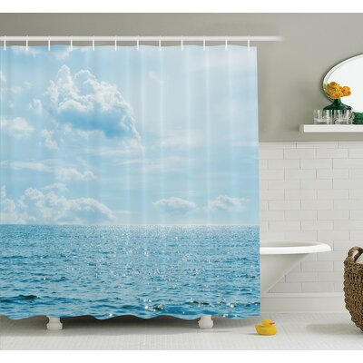 Nautical Calm Sea Paradise Shower Curtain Set Size: 84 H x 69 W