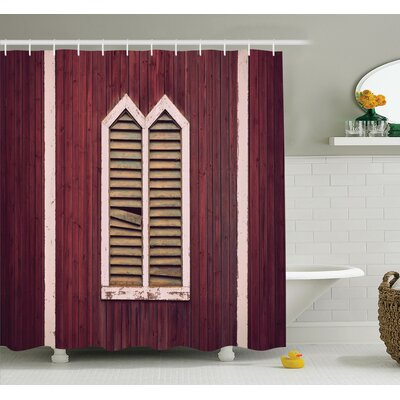 Retro Shutters Shower Curtain Set Size: 70 H x 69 W