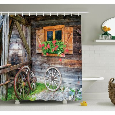 Farm House Countryside Shower Curtain Set Size: 70 H x 69 W