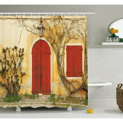 Aged Doors Tuscan House Shower Curtain Set Size: 75 H x 69 W