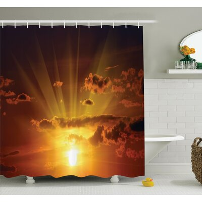Nature Magical Burning Sunset Shower Curtain Set Size: 84 H x 69 W
