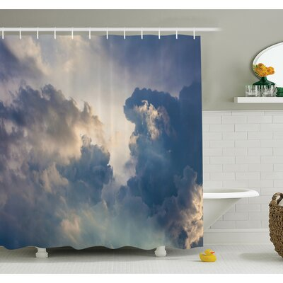 Nature Rain Storm Clouds Sky Shower Curtain Set Size: 70 H x 69 W
