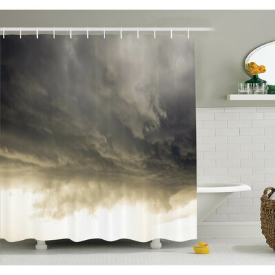 Nature Cloudy Sky Hurricane Shower Curtain Set Size: 70 H x 69 W
