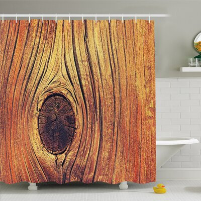 Rustic Home Life Tree Concept with Divided Core Macro Circles Habitat Natural Wonder Shower Curtain Set Size: 84 H x 69 W