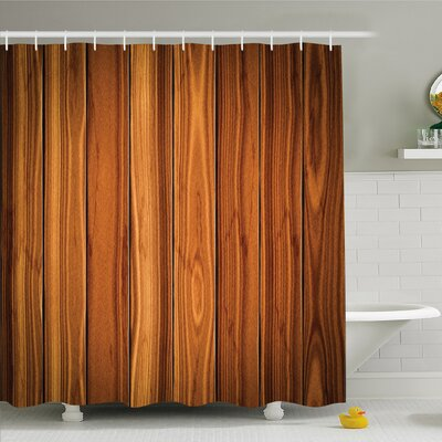 Rustic Home Decorative Bound Wood Line Timber Trunk Maple Stem Birch Branch Shower Curtain Set Size: 75 H x 69 W