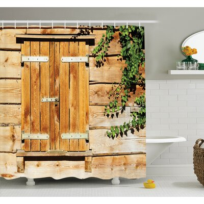Countryside Shutters Shower Curtain Set Size: 84 H x 69 W