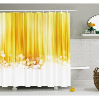 Ombre Striped Design with Bubble alike Circles Artwork Shower Curtain Set Size: 70 H x 69 W
