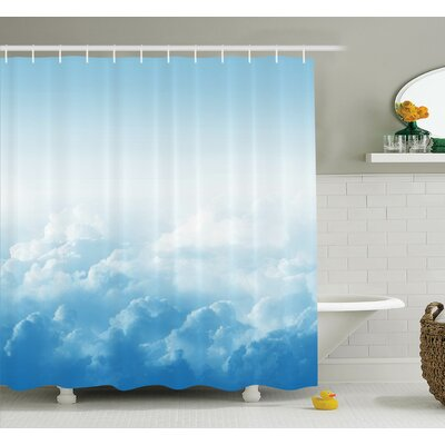 Nature Peaceful Fluffy Clouds Shower Curtain Set Size: 84 H x 69 W