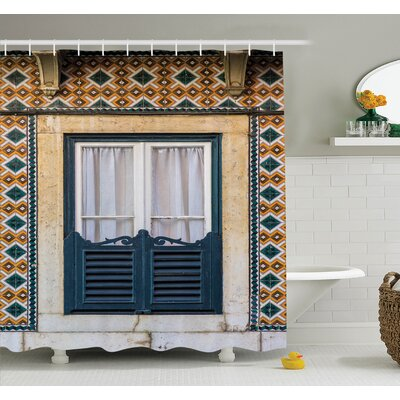 Vintage Window Rural Shower Curtain Set Size: 84 H x 69 W