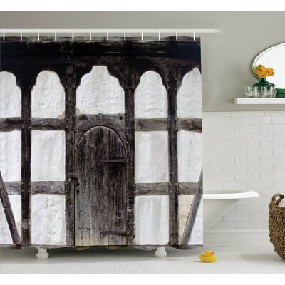 Grunge Farmhouse Door Shower Curtain Set Size: 84 H x 69 W