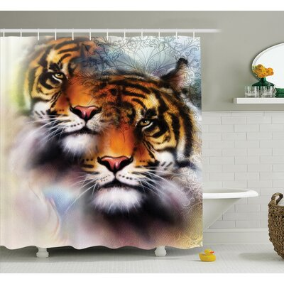 Animal Wildlife Shower Curtain Set Size: 70 H x 69 W