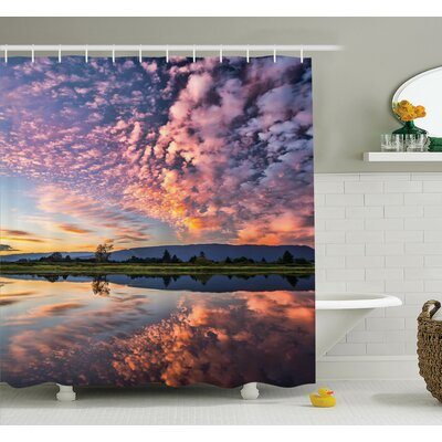 Nature Reflections on Water Shower Curtain Set Size: 84 H x 69 W