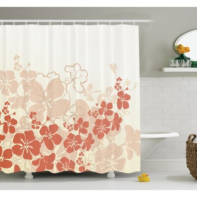 Floral Hawaii Tropical Shower Curtain Set Size: 75 H x 69 W