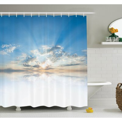 Nature Sky Freedom Clouds Shower Curtain Set Size: 75 H x 69 W