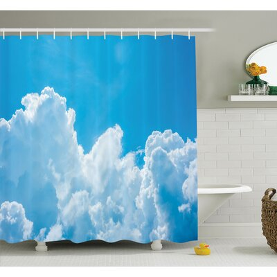 Nature Clouds Sky Peace Heaven Shower Curtain Set Size: 84 H x 69 W