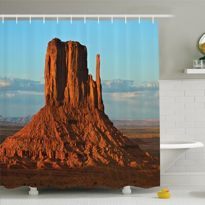 House Panorama of Popular American Canyon by Process of Long Erosion and Wind Shower Curtain Set Size: 70 H x 69 W