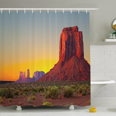 House Sunset in Famous Grand Canyon Archaic Natural Wonders of World Heritage Shower Curtain Set Size: 84 H x 69 W