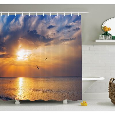 Nature Early Morning Sunrise Shower Curtain Set Size: 84 H x 69 W