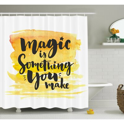 Motivate Quote Shower Curtain Set Size: 70 H x 69 W