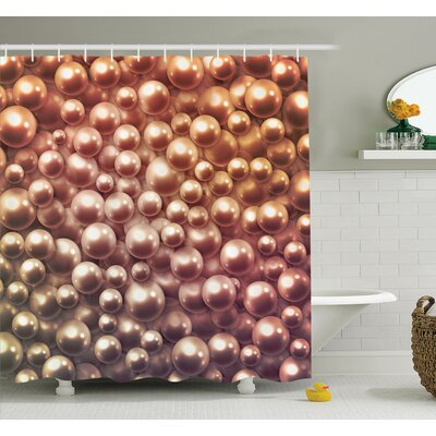 Jewelry Glitters Shower Curtain Set Size: 84 H x 69 W