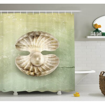 Open Marine Life Shower Curtain Set Size: 84 H x 69 W