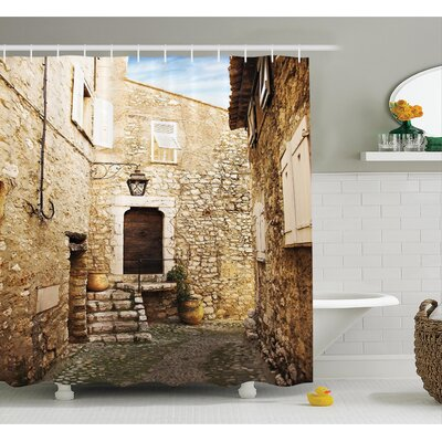 Narrow Cobble Street Shower Curtain Set Size: 84 H x 69 W