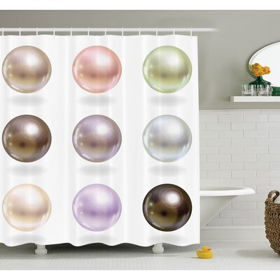 Shiny Bridal Gleam Art Shower Curtain Set Size: 75 H x 69 W