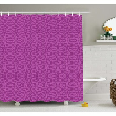 Turning Rotary Spiral Tile Twist Symmetric Spinning Plural Motion Modern Image Shower Curtain Set Size: 84 H x 69 W
