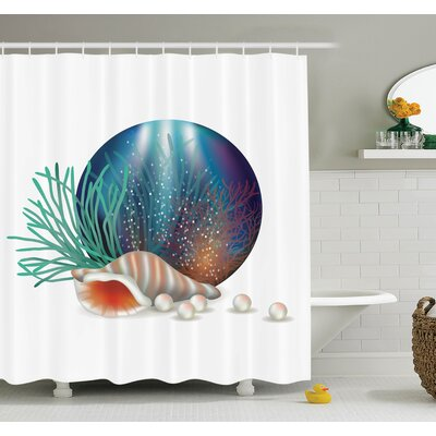 Underwater Ocean Shower Curtain Set Size: 84 H x 69 W