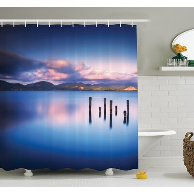 Sky Reflection on Water Shower Curtain Set Size: 84 H x 69 W