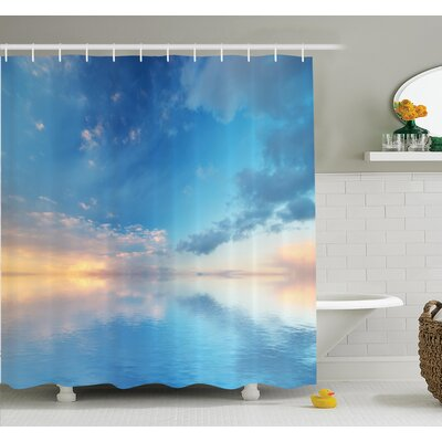 Ocean Horizon Clouds Sky Shower Curtain Set Size: 70 H x 69 W