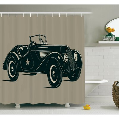 Classic Italian Car Shower Curtain Set Size: 70 H x 69 W