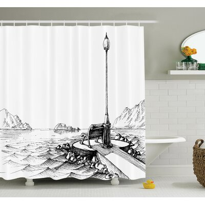 Sun Moon Vintage Shower Curtain Set Size: 84 H x 69 W